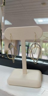 sterling silver & 14kt yellow gold dangle fashion earrings in Camp Lejeune, North Carolina
