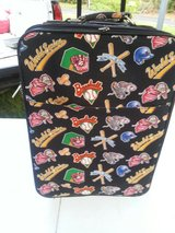 Baseball Themed Suitcase in Cleveland, Texas