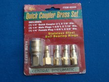 NEW  5 PC. BRASS QUICK COUPLER AIR FITTINGS in Naperville, Illinois