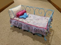 American Girl Curlicue Daybed with Trundle Bed and Bedding in Naperville, Illinois
