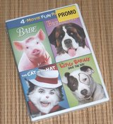 NEW 4 Movie Fun Pack Promo DVD Babe Beethoven Cat In The Hat Little Rascals in Joliet, Illinois