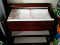 Cherry wood changing table in 29 Palms, California