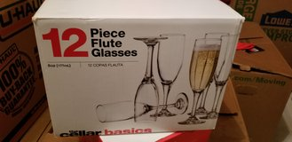 12 Pieces Flute Glasses (3 boxes) in Fort Polk, Louisiana
