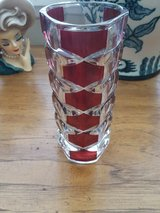 ruby and Crystal vase in Yucca Valley, California