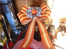 USA flag ribbon with lights in Fort Knox, Kentucky