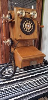 Vintage Wood Wall Phone in Travis AFB, California