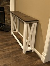 New farmhouse console table in The Woodlands, Texas