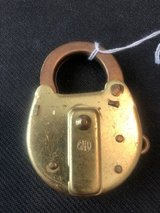 Safe Brass Railroad lock (item #47) in Cleveland, Texas