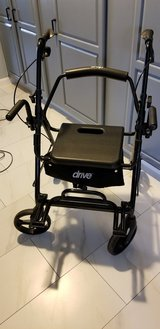 Drive Medical Duet Dual Function (Transport Wheel Chair and Rotating Rolling Walker in Fort Polk, Louisiana