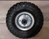 """New 10"""" 4.10/3.50-4 replacement wheel + tube tire Max 300LBS in Naperville, Illinois"""