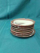 Vintage Frankoma/Prairie Green Bread & Butter Dishes #1738-28 in Camp Lejeune, North Carolina