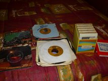 8 track tapes and 45 rpm records in Fort Knox, Kentucky