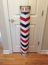 Vintage barber pole by William Marvy in Naperville, Illinois