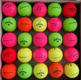 25 colorful Callaway Supersoft balls near mint condition in St. Charles, Illinois