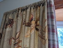 Elegant valance and curtains in Aurora, Illinois