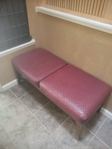 Faux leather entry way bench in Travis AFB, California