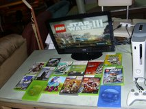xbox 360 with 14 kids games & wired controller & all hook-ups in Fort Knox, Kentucky