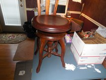 1800'S PIANO STOOL WITH ADDED BACK BY CHARLES PARKER in Warner Robins, Georgia