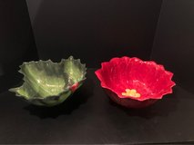 Two Holiday Glass Serving Bowls in Naperville, Illinois