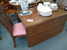 Drop Leaf Table with 4 Chairs, 2 Leaves and Table Pads in Bartlett, Illinois