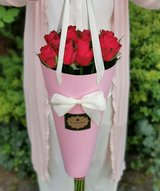 Flower bag with various color roses & Hand written note - Gift in Ramstein, Germany