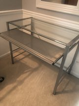 glass desk with pull out shelf in Naperville, Illinois