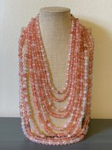 Pink Multi-Strand Layered Necklace in Okinawa, Japan