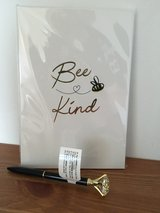 NEW/SEALED 'Bee Kind' Notebook and Jewel Pen in Lakenheath, UK