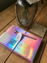 NEW/SEALED PINK HOLOGRAPHIC NOTEBOOK & JEWEL PEN in Lakenheath, UK