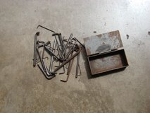 METAL BOX OF 42 ALLEN WRENCHES ( MIXED LOT ) in Yorkville, Illinois