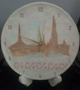 CLOCK - Southwest Ceramic Clock with Stand in Plainfield, Illinois