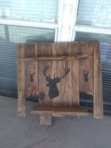 Rustic deer shelf in Leesville, Louisiana