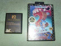 sega genesis - sonic the hedgehog 2 and atari game with 112 games and space invaders in Fort Knox, Kentucky