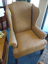 Dark Gold Wing Back Chair in St. Charles, Illinois