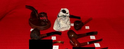 Vintage Tobacco Pipe Collection Carved  Polynesian Girl Feather Rock & More in Lockport, Illinois