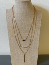 Gold Tone Triple Strand Necklace in Okinawa, Japan