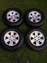 """GMC Rims - 17"""" with like new tires & locking lugnuts in Houston, Texas"""