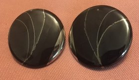 Earrings Black Silver Purchased from Artist posts One of a Kind Vintage 80s Family Piece in Houston, Texas