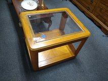 Oak with Glass End Table in Bartlett, Illinois