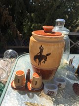 cowboy cookie jar and salt/pepper in Yucca Valley, California