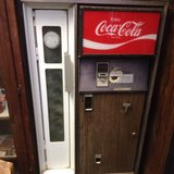 old coke machine 1960 in Fort Polk, Louisiana