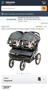 Navigator Double Jogger Stroller Vanguard in Camp Lejeune, North Carolina