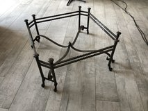 Antique Handmade Wrought Iron Coffee Table Base in Ramstein, Germany