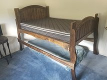 Tall double bed with new matress in Alamogordo, New Mexico