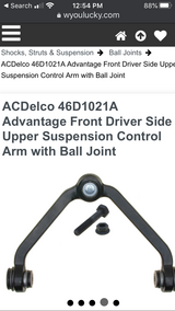 Upper control arm and ball joint in Alamogordo, New Mexico
