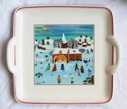 Luxembourgian naïf small flat plates (4) by Villeroy & Boch in Okinawa, Japan