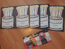 Teacher Daycare Happy Birthday bulletin board Months and headbands in St. Charles, Illinois
