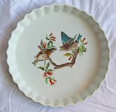 """Round French fire proof porcelain baking plate """"Le Faune"""" in Okinawa, Japan"""