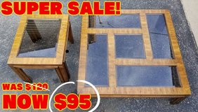 TABLES - COCKTAIL and END TABLE ($85 For The Pair) in Plainfield, Illinois