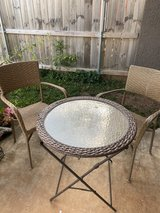 Bistro set in Fort Campbell, Kentucky